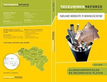 Catalogus Alu Profielen - Deceuninck Deforce