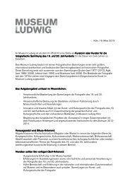 Vollständige Stellenausschreibung - Museen in Köln