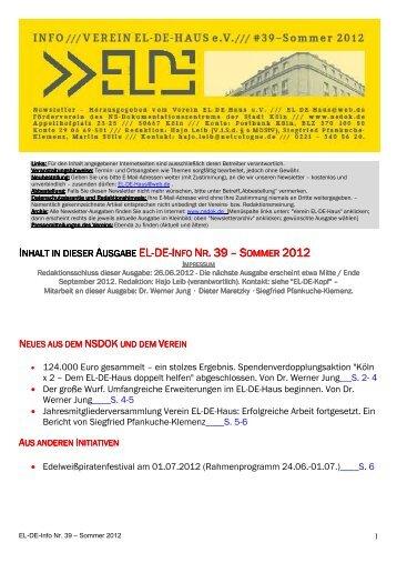EL-DE-Info39-Sommer2.. - Museen in Köln