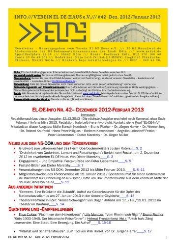 EL-DE-INFO NR. 42– D - Museen in Köln