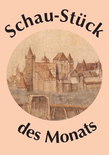 Ansicht der Nürnberger Burg von Norden im Albrecht-Dürer-Haus
