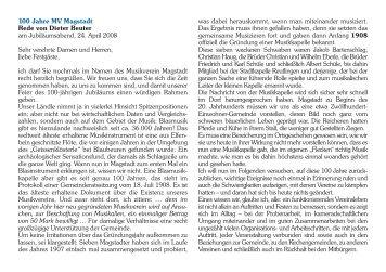 100 Jahre MV Magstadt Rede von Dieter Beuter - Musikverein ...