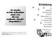 PROGRAMM Winterfeier 2008 - Musikverein Eintracht ...