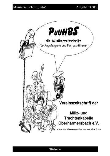 Pubs - Miliz- und Trachtenkapelle Oberharmersbach