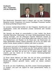 Volker Jahnke und Peter Grenzemann - Musikverein Oberbränd e.V.