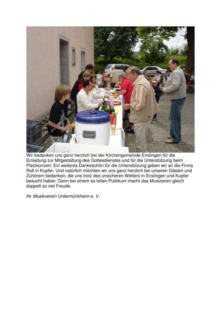 Platzkonzerte - Musikverein Untermünkheim