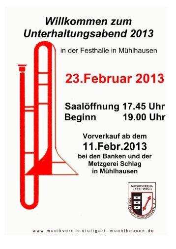 """Der Flyer ist hier als PDF erhältlich. - Musikverein """"Frei-Weg ..."""