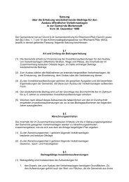 Satzung über die Erhebung wiederkehrender Beiträge ... - Mutterstadt