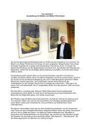 Bilder-Ausstellung von Walter Pfannhuber - Mutterstadt