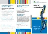 Chronische Rückenschmerzen - Klinikum Mutterhaus der ...
