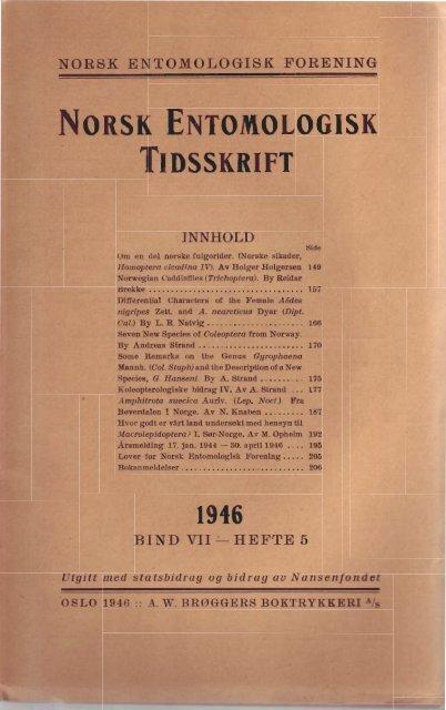 3 - Norsk entomologisk forening