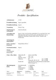 Produkt - Spezifikation - Friedrich Gewürze GmbH