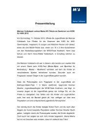 Pressemitteilung - Mainzer Volksbank eG
