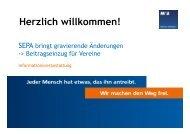 2 Die SEPA- Lastschrift - Mainzer Volksbank eG