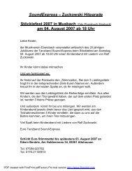 am 04. August 2007 ab 18 Uhr - Musikverein Ebersbach