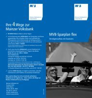 MVB-Sparplan flex - Mainzer Volksbank eG