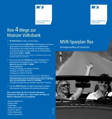 MVB-Sparplan flex - Mainzer Volksbank eG