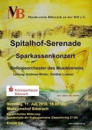 Spitalhofserenade am 11.7.2010 - Musikverein Biberach an der Riß ...