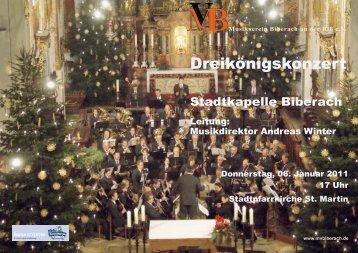 Dreikönigskonzert am 6.1.2011 - Musikverein Biberach an der Riß eV