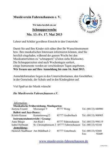 Schnupperwoche 13_o_LehrerA4 - Musikverein Fahrenzhausen