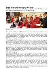 Neuer Dirigent bringt neuen Schwung - Musikverein