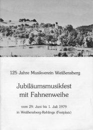 Festschrift zum Musikfest mit Fahnenweihe 1979 - Musikverein ...