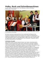 Polka, Rock und Schreibmaschinen - Musikverein