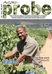 Download AgriProbe - Department of Agriculture: Western Cape