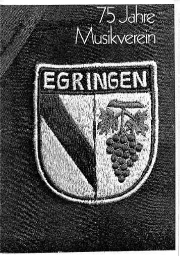Festschrift als pdf - Musikverein Egringen