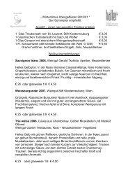 Winterliches Weingeflüster 2010/01 - Hallers Genuss & Spa Hotel