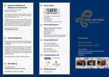 Indo-German Business Forum 2009 - Mv-group.com