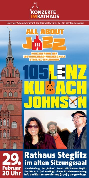 Rathaus Steglitz - Leo-Borchard-Musikschule Berlin Steglitz ...