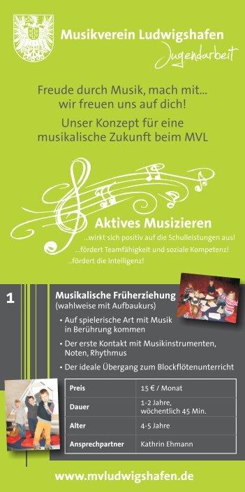 Jugendarbeit - Musikverein Ludwigshafen