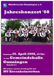 Programm - Musikverein Gunningen eV