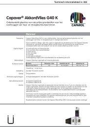 Technische informatie Capadecor AkkordVlies G - Caparol