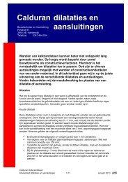 Adviesblad dilataties en aansluitingen - Calduran Kalkzandsteen BV