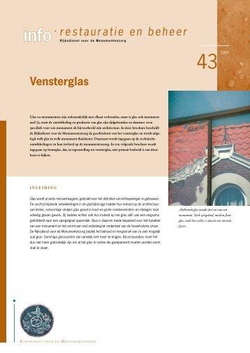 43. Vensterglas - Rijksdienst voor het Cultureel Erfgoed