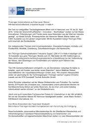 Thüringer Unternehmen auf Hannover Messe IHK ...