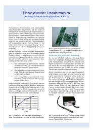 Piezoelektrische Transformatoren - ATHENA Technologie Beratung ...