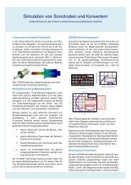 Simulation von Sonotroden und Konvertern - ATHENA Technologie ...