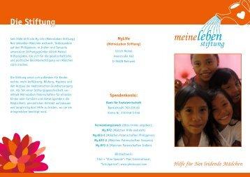MyLife Faltblatt - MeineLeben Stiftung