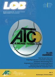 In dit nummer: - Almense Tennis Club