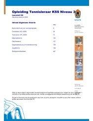 Opleiding Tennisleraar KSS Niveau 3