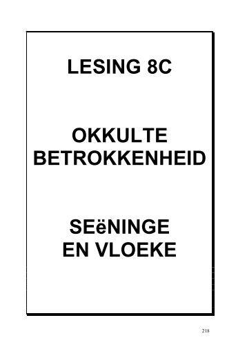 2SIELESORG HANDLEIDING - LESINGS 8C ... - Kanaan Ministries