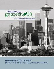 Downloadable PDF version of the program - GoGreen Seattle