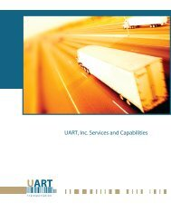 UART, Inc. Services and Capabilities - UART Transportation > About ...