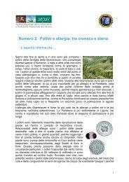 Numero 2. Pollini e allergia: tra cronaca e storia - Arpav