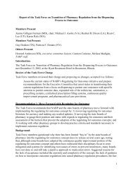 Report of the Task Force on Transition of - National Association of ...