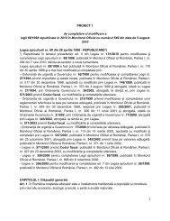 Proiect 1. Legea apiculturii 89/1998 cu modificari si completari ...