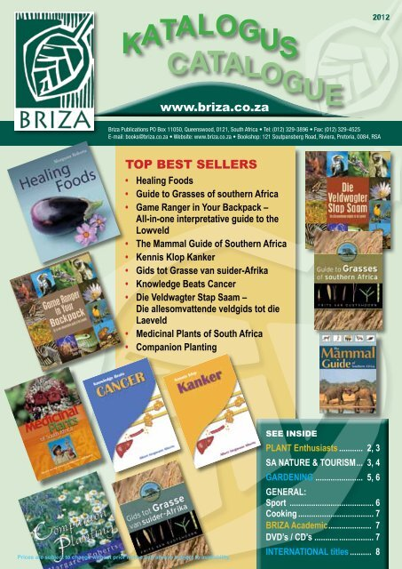 katalogus CATALOGUE - Briza Publications